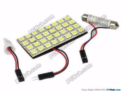 75756- T10 / Festoon. 24x5050 SMD White LED Light
