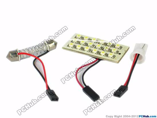 75758- T10 / Festoon. 18x1210 SMD White LED Light