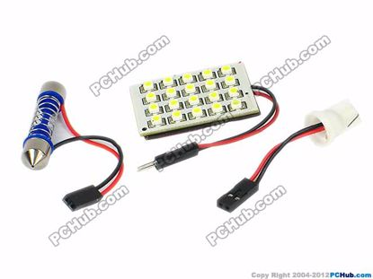 75760- T10 / Festoon. 20x1210 SMD White LED Light