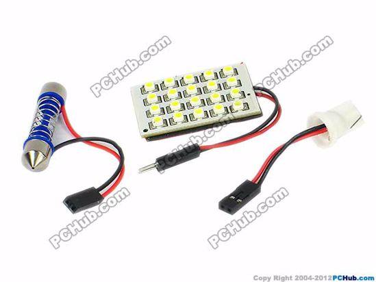 75760- T10 / Festoon. 20x1210 SMD White LED Light