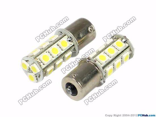 76008-S25. BA15S (1156). 18 x 5050 SMD LED. White