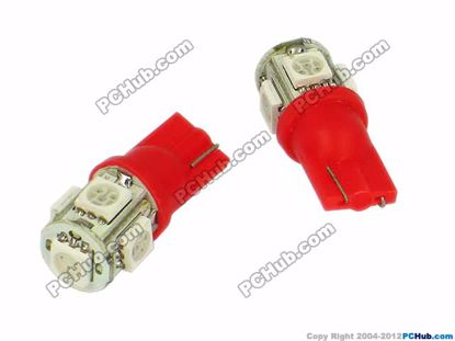 76804- Wedge. 5 x 5050 SMD Red LED