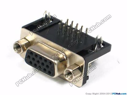 DB-15, three-row, 15-pin