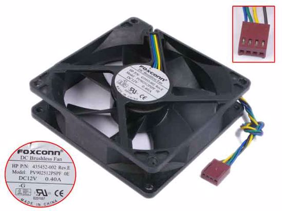 HP 435452-002 PV902512PSPF 0E DC BRUSHLESS FAN