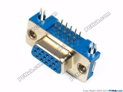 DB-15. three-row, 15-pin