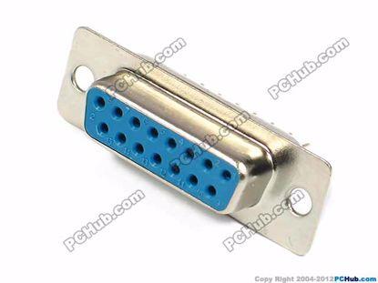 DB-15. two-row, 15-pin dip