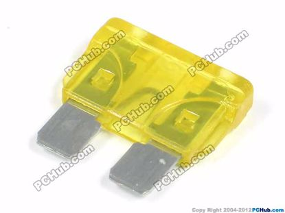 ATO. Yellow. 20A 32VDC 19.1x18.5mm. Fast Acting