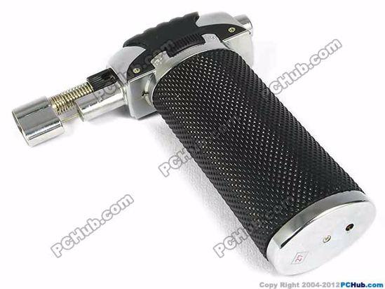 Butane power piezo ignition, Black+Silver