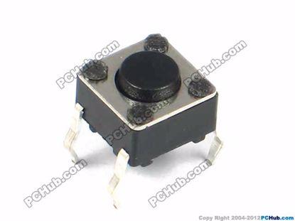 6x6x4.3mm, Black