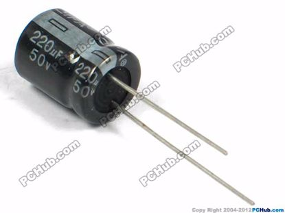 50v 220uF, 10x13mm Height