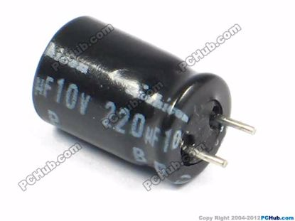 10v 220uF, 8x12mm Height