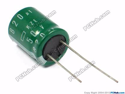 50v 820uF, 16x20mm Height