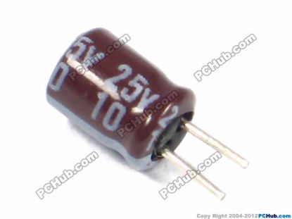 25v 10uF, 4x6mm Height