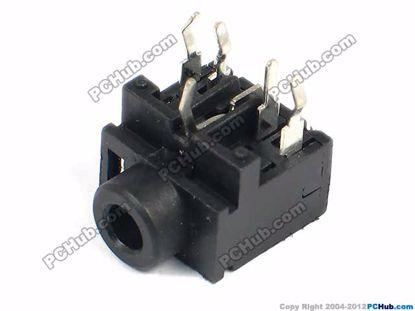 PJ-317, DIP 5-pin, Black