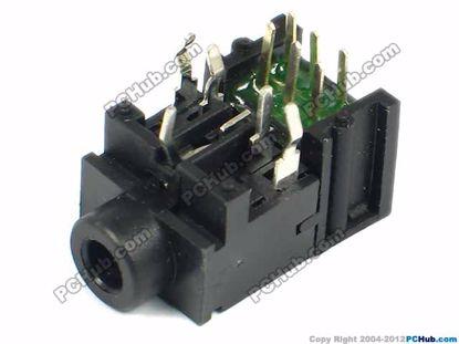 PJ-317, DIP 11-pin, Black