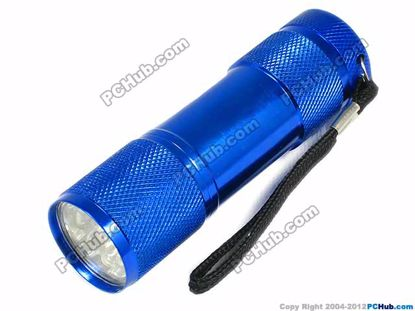 Blue. Power by 3 x AAA Battery