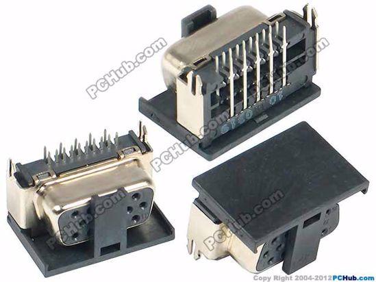 Picture of UPH Jack & Plug Jack- Video / Display VGA Jack, 11x20.5x10.5mm