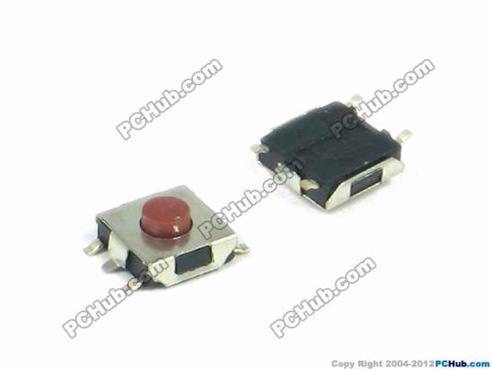 Red button, 6.5x6.5x3.1 mm (LxWxH, Exclude Leg)