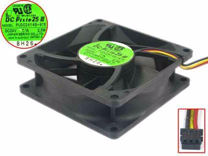 for SERVO SKUD24B4S 24V 0.13A 2.9W 3-Wire Cooling Fan