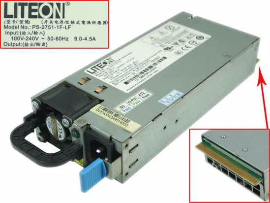 LITE-ON PS-2751-1F-LF Server - Power Supply 750W, PS-2751-1F-LF