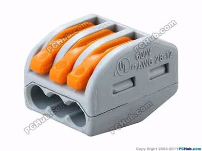 WAGO 222-413, For 0.08-4mm soft or 0.08-2.5mm2 har