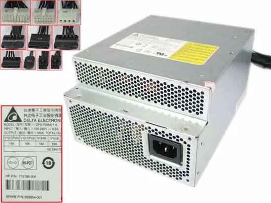 HP Z440 WorkStation Server - Power Supply 700W, DPS-700AB-1 A, 719795-003,  809053-001, 719795-004, 858854-001