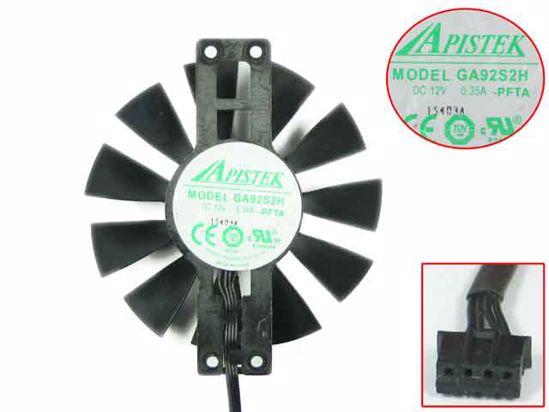 SPARKLE GTX560SE APISTEK GA92S2H PFTA 87mm 47mm 4wire Graphics Card Cooling Fan