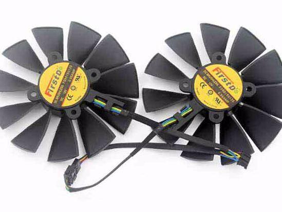 Firstd FD9015U12S Server - Frameless / GPU Fan 12V 0 55A, W160x 8x 4,  Blacks, 2 Fan