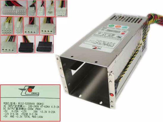 EMACS P1S-2300V Server Power Supply 300W PSU Server Computer