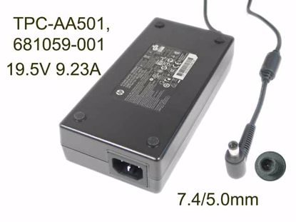 HP AC Adapter (HP) AC Adapter- Laptop 19.5V 9.23A, 7.4/5.0mm WP, C14, New