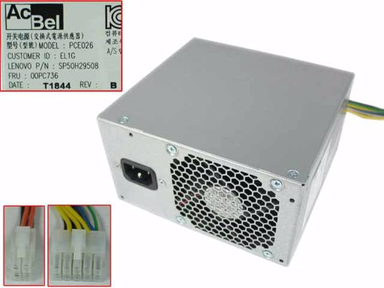 Acbel Polytech PCE026 Server - Power Supply 250W, PCE026, 54Y8934