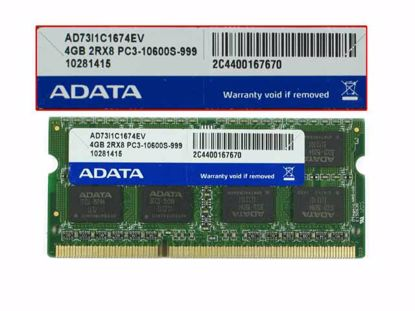 ADATA AD73I1C1674EV Laptop DDR3-1333 4GB, DDR3-1333, PC3-10600S, AD73I1C1674EV, Laptop