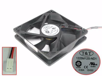 T&T 1225M12S-ND1 Server - Square Fan sq120x120x25, 2w, DC 12V 0.6A