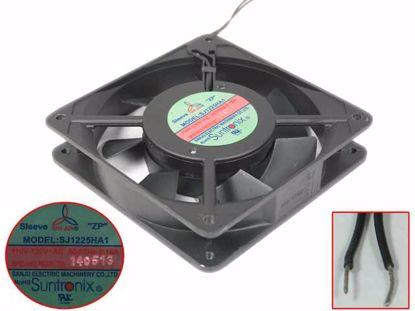 San Jun / Suntronic SJ1225HA1 Server - Square Fan sq120x120x25, 2-wire, 120V 60Hz