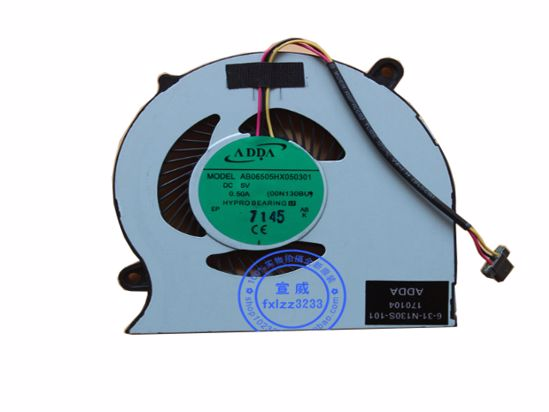 Picture of ADDA AB06505HX050301 Cooling Fan DC 5V 0.28A, Bare fan, NEW