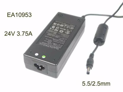Picture of PCH OEM Power AC Adapter - Compatible EA10953, 24V3.75A, 5.5/2.5mm, 3-Prong, New