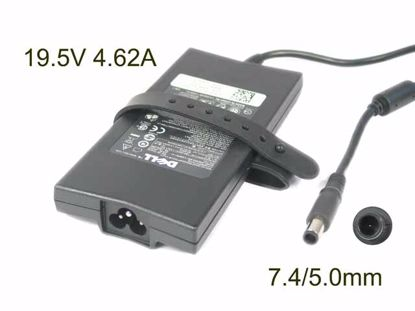 Picture of Dell Common Item (Dell) AC Adapter- Laptop 19.5V 4.62A, 7.4/5.0mm W/Pin, 3-Prong, Z31