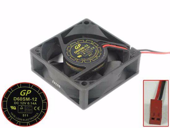 Picture of Y.L FAN / Yate Loon D60SM-12 Server - Square Fan SF60x60x20, w2, 12V 0.14A