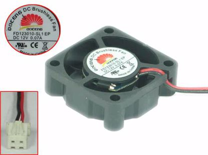 Picture of DOCENG FD123010-SL1 Server - Square Fan EP, 12V0.07A, sq30x30x10mm, 2W