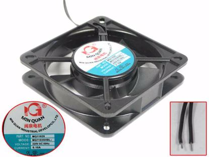 Picture of MING QUAN MQ11025HBL Server - Square Fan 220V 0.10A, Alum, sq110x110x25mm, 2W