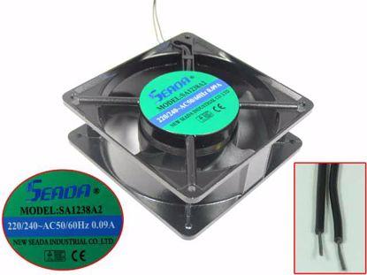 Picture of SEADA SA1238A2 Server - Square Fan 220V0.09A, Alum, sq120x120x38mm, 2W