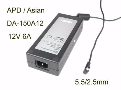 Picture of APD / Asian Power Devices DA-150A12 AC Adapter 5V-12V 12V 6A, 5.5/2.5mm, C14, New