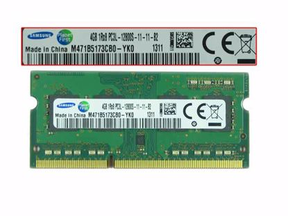 Picture of Samsung M471B5173CB0-YK0 Laptop DDR3L-1600 4GB, DDR3L-1600, PC3L-12800S, M471B5173CB0-YK0, La