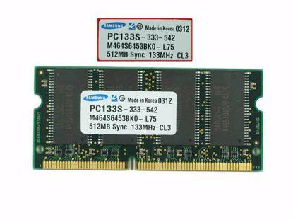 Picture of Samsung M464S6453BK0-L75 Laptop SD RAM 133MHz 512MB, SDRAM-133, PC133S, M464S6453BK0-L75, Laptop