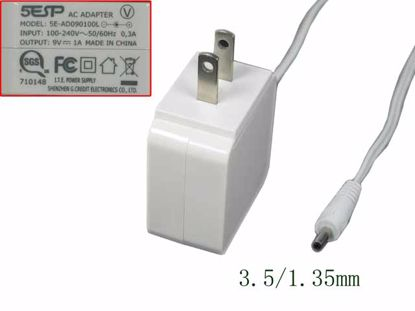 Picture of 5ESP SE-AD090100L AC Adapter 5V-12V SE-AD090100L, White