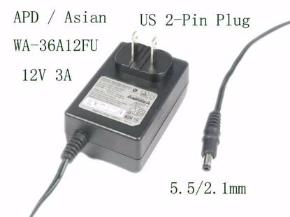 Picture of APD / Asian Power Devices WA-36A12FU AC Adapter 5V-12V WA-36A12FU