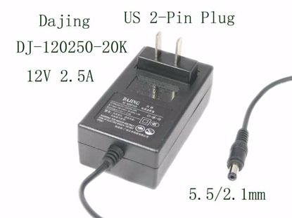 Picture of Dajing DJ-120250-20K AC Adapter 5V-12V DJ-120250-20K,  5.5/2.1mm