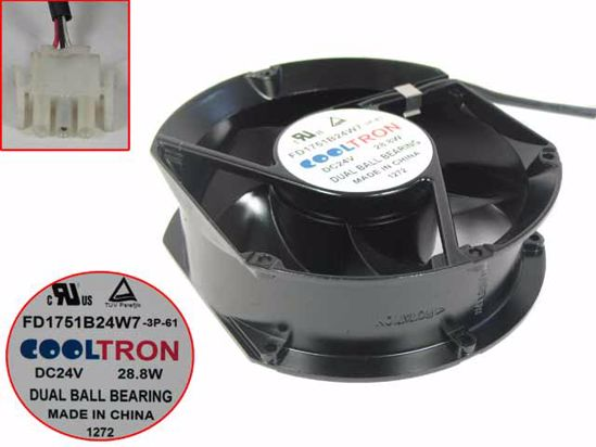 Picture of COOLTRON FD1751B24W7 Server-Round Fan FD1751B24W7, 3P-61