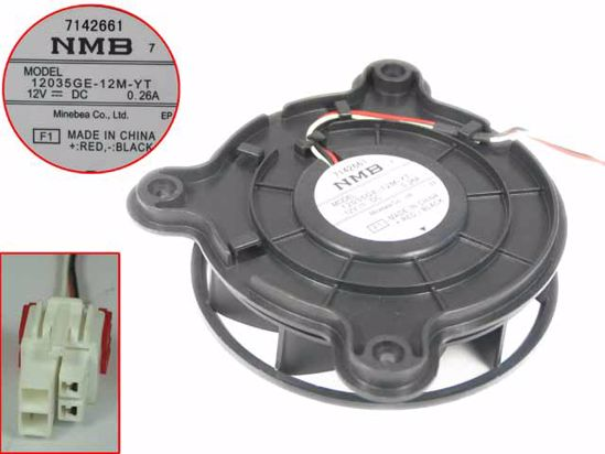 Picture of NMB-MAT / Minebea 12035GE-12M-YT Server-Round Fan 12035GE-12M-YT, F1