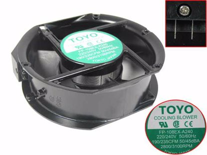 Picture of TOYO FP-108EX-A240 Server-Round Fan FP-108EX-A240